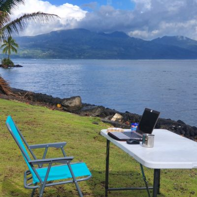 blogger arbeitsplatz tahiti zwei wollen meer camper van