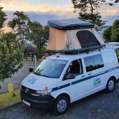 van away tahiti zwei wollen meer camping camper van